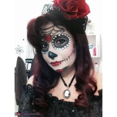 Dia de los Muertos aka Day of the Dead Costume ❤ liked on Polyvore featuring costumes