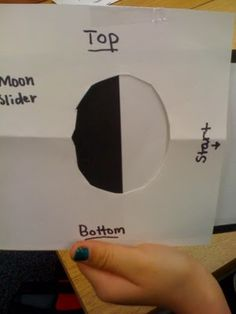 diy moon sliders to understand the phases of the moon
