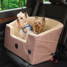 Heated Pet Car Seat. I need this for my dogs lol.