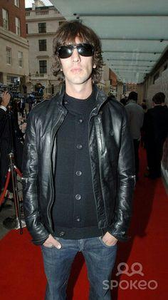 Richard Paul Ashcroft cool leather jacket!