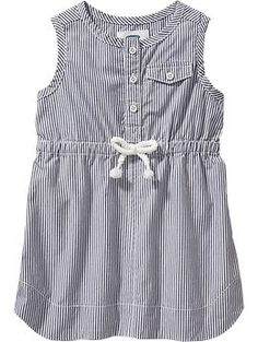 Striped Sleeveless Dresses for Baby   Old Navy