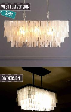 Build a pendant chandelier. | 24 West Elm Hacks