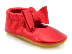 the perfect comfy, adorable dress shoe for the holidays! Baby Moccasins, Childrens Shoes, Walking Shoes, Ruby Red, Barefoot, Logan, Mary Janes, Cute Dresses, Infant