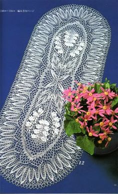 "Photo from album ""Knitted lace designs of the ""Modern"" Mode Book on Yandex. Lace Knitting, Knitting Needles, Crochet Doilies, Crochet Lace, Tricot D'art, Cloth Table Covers, Knitting Patterns, Antique Lace, Tutorials"