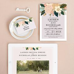 Love is in the air. Get inspired by the spring florals for the perfect combination of style and elegance for your wedding day invitation design from Minted.