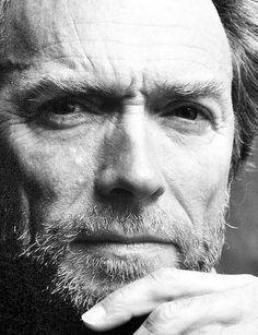 Clint Eastwood #celebrities #famous #hollywood #star #black #white