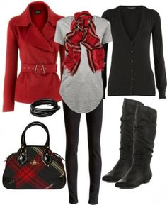 Attractive Polyvore Outfit - minus the red jacket