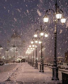snowing in the city...