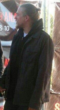 Charlie Hunnam -- Jax Teller... Love the man bun!  SOA