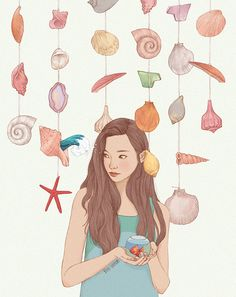 Illustrations by Jiseon Heo #illustration #drawing #designmintco