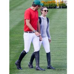 Charlie Jayne and his girldfriend wearing Tucci riding boots at competitions #tucciboots #equestrian #style
