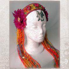 Tribal fusion headdress ATS Gypsy Fairy Headdress Tribal