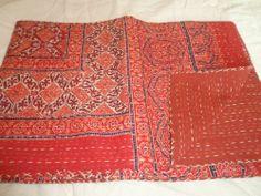Indian Patchwork Cotton Kantha Quilt Bedspread Tapestry Throw Gudari Ralli Decor