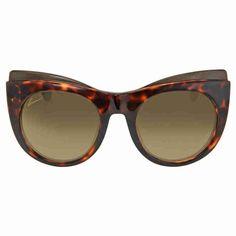 gucci sunglasses. series cat eye. series number: gg3781. size: 52. shape: cat eye. lens width: 52 mm. lens bridge: 22 mm. arm length: 140 mm. 100% uv protection. non-polarized. frame material: optyl. frame color: havana. lenses type: brown. upc/ean code: 827886179169. gucci cat eye havana ladies sunglasses gg3781/slsdha.
