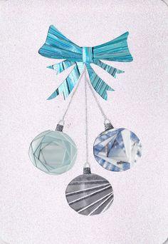 Iris folded Christmas bulbs