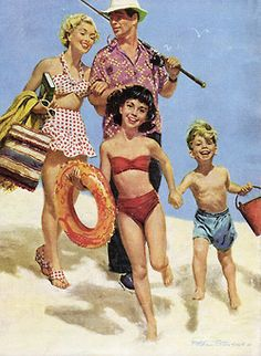 Day at the Beach - Art by Peter Stevens.