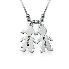 Collar Niño/ Niña en Plata Personalizado para la Mamá | MyNameNecklace