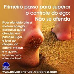 Primeiro passo para superar o controle do ego – Não se ofenda universe natural
