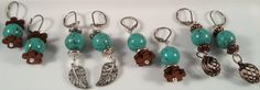 Trendy Turquoise Earrings pick according to pictures. All on lever back wires, they will never work their way out of your ears!  Fun for Vacation wear or everyday wear by RockinRobinsBling, $7.00