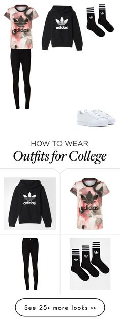 """Adidas"" by sleepygirl123 on Polyvore featuring AG Adriano Goldschmied, adidas Originals and adidas"