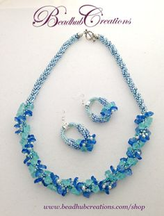 Best friend gift ideas giftforher beaded bracelets for sister here is the blue version of the floral fantasy choker made with glass floral beads and negle Images