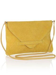 Sarah Envelope Suede Clutch, $79