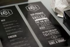 The Gril Bar & Restaurant by Tash Coyle, via Behance
