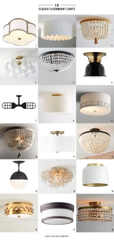 18 Classic Flushmount Lights 6 Of Which Are In Our New House