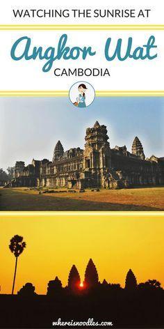 Watching the Sunrise at Angkor Wat