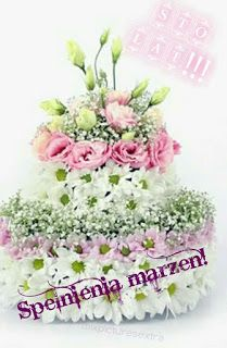 Gify i Obrazki: ŻYCZENIA URODZINOWE Ikebana, Floral Wreath, Wreaths, Fun, Decor, Pandora, Painting, Nighty Night, Decoration