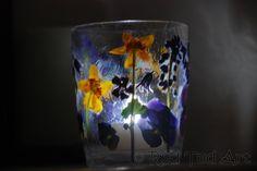 Pressed Flower Tea Lights.