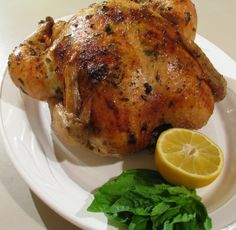 ... Love of Cooking » Lemon, Garlic and Basil Slow Roasted Chicken More