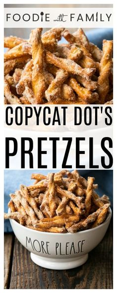 This copycat Dot's Pretzels recipe is crazy good and just like the original at a fraction of the price! Savoury delicious habit-forming and oh-so-easy! Salty Snacks, Quick Snacks, Yummy Snacks, No Cook Appetizers, Recipes Appetizers And Snacks, Dinner Recipes, Dots Pretzel Recipe, Pretzel Crackers Recipe, Party Pretzels Recipe