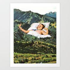 Rising Mountain Art Print by Eugenia Loli - $30.00