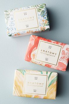 Anatomy Of A Fragrance Bar Soap Soap Packaging Designs Logo Inspiration, Packaging Design Inspiration, Pretty Packaging, Beauty Packaging, Soap Packing, Client Gifts, Box Design, Bar Soap, Handmade Soaps