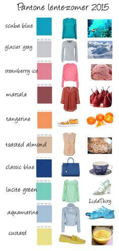 De nieuwe kleuren voor lente-zomer 2015 | www.lidathiry.nl | klik op de foto voor het bericht #Pantone