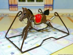 Sweet Rocking Horse Vintage Dollhouse Miniatures Fits Renwal Ideal Marx | eBay