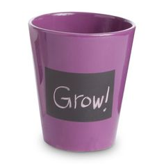 Find it at the Foundary - Round Chalkboard Cachepot - Purple$16