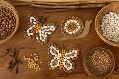 Cardboard Snail and Butterfly Seed Mosaics (Woodlark) Craft Activities, Preschool Crafts, Toddler Activities, Fun Crafts, Crafts For Kids, Arts And Crafts, Kids Diy, How To Make Beans, Mosaics For Kids