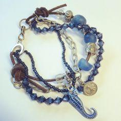 #bracelet #armband with reclyed glass beads from Ghana   www.prtty.nl