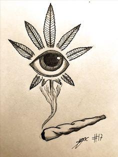 with pencil Drog … – Graffiti World Trippy Drawings, Dark Art Drawings, Pencil Art Drawings, Art Drawings Sketches, Tattoo Sketches, Tattoo Drawings, Easy Drawings, Art Tattoos, Hippie Drawing