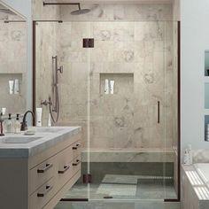 DreamLine Unidoor-X 62 in. to 62-1/2 in. x 72 in. Frameless Pivot Shower Door in Oil Rubbed Bronze