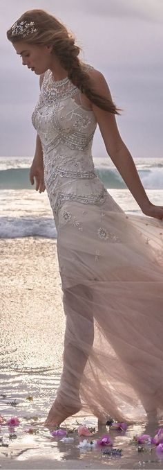 Wedding Dress,Simple Bridal Wedding Dress,Mermaid prom dresses,long champagne prom gowns by DestinyDress, $227.39 USD