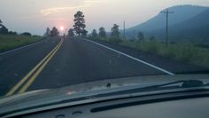 Sunrise on the way to Pagosa Springs. Smoke!