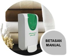 Betasan Manual: The Betasan antibacterial gel dispenser is the perfect addition to any workplace environment to break the bacteria cross contamination chain. Every day thousands of potential harmful bacteria and viruses are transmitted through hand contact. From the introductory hand shake to using doors, fax machines and drinking from coffee cups.