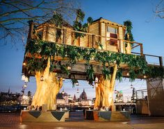virgin holidays has created a 35 foot high luxury south african treehouse, and is offering competition winners an overnight stay in the urban retreat.