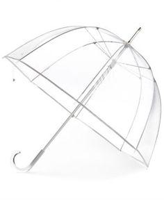 Totes Clear Bubble Umbrella - White