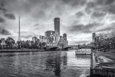 Yarra River. Melbourne Victoria, Victoria Australia, New York Skyline, River, Landscape, Scenery, Landscape Paintings, Rivers