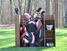 When golf season hits, searching for balls, tees and maybe even a club or two can get frustrating. This DIY storage unit is a great way to keep all of your golf gear together and organized, with room for multiple bags and even an adjustable shelf to accommodate those odd size items. Get the free DIY plans from Jillian at @i_amahomemaker at buildsomething.com