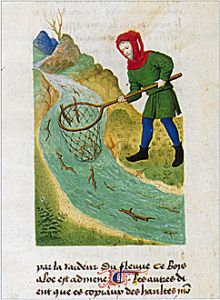 How to collect aloeswood from the rivers flowing out of Paradise. Also from a 15th-century copy of the Livre des Simples Médecines.